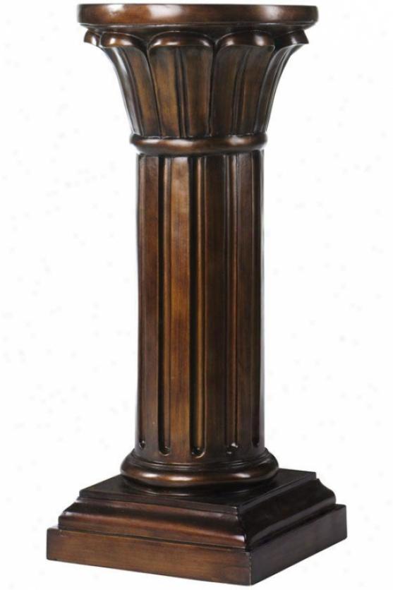 """""""philippe Pedestal - 30""""""""h X 14""""""""round, Brown"""""""