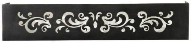 Pierced Floral Ledge - 3hx18w, Copper