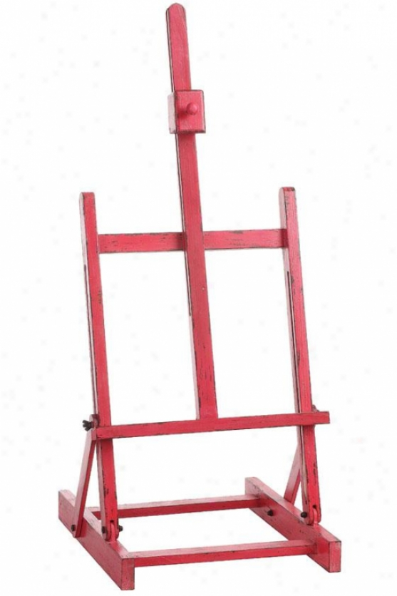 """pink Adjustable Easel - 31h X 14w X 2""""d, Pink"""