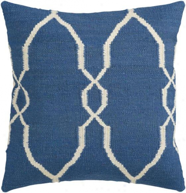 Piper Decorative Pillow - 18hx18w Down, Blue