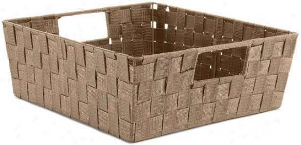 Soft Rattan Shelf Basket - Larve, Coffee