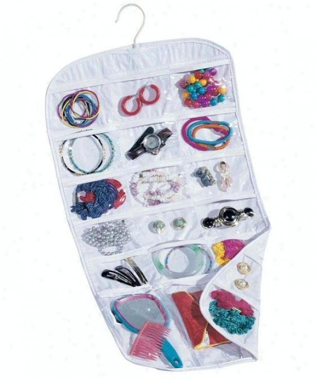 """pocket Jeweldy Organizer - 26.75""""hx13""""w, White"""