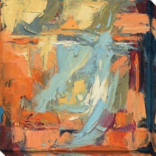 Poetry In Motion Ii Canvas Wall Art - Ii, Orange