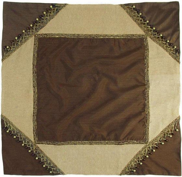 """polished Twble Topper - 40"""" Square, Cjocolate Brown"""