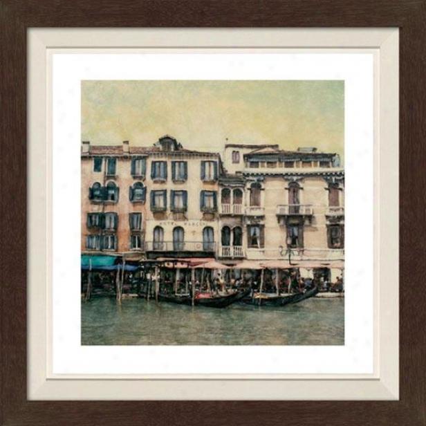 """ponte De Vecchio Framed Wall Art - 30""""hx30""""w, Fltd Espresso"""