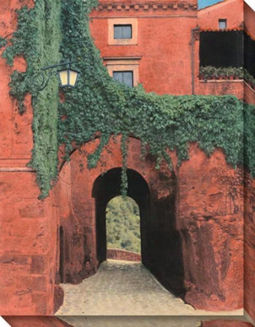 """porta Di Civita Canvas Wall Art - 36""""hx46""""w, Coral"""