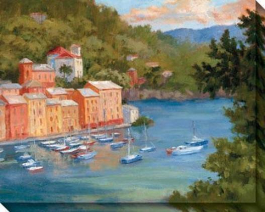 Portofino Summe Ii Canvas Wall Art - Ii, Multi