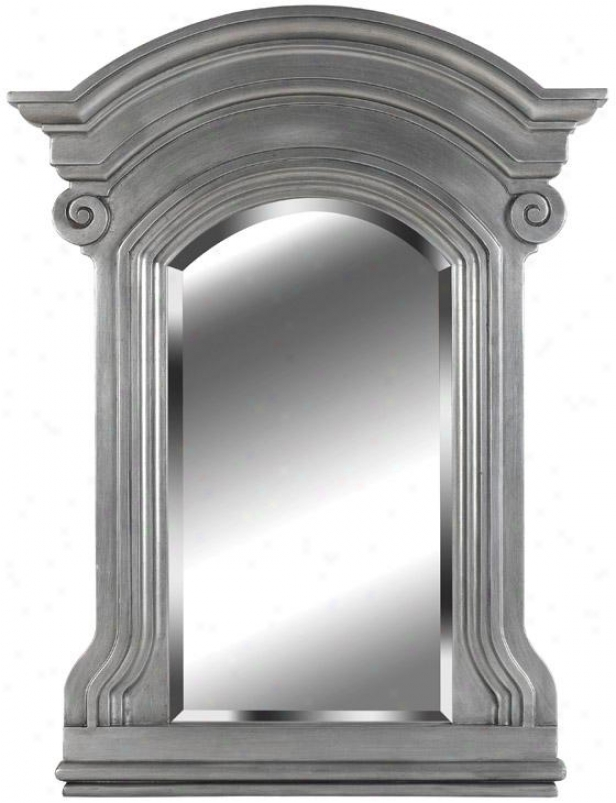 """portsmouth Wall Mirror - 37h X 28""""w, Pewter"""