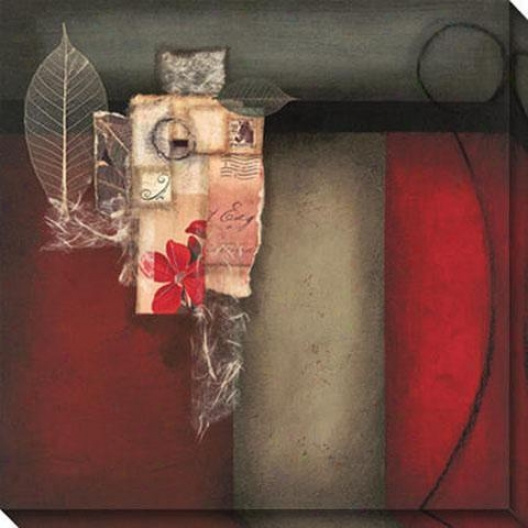 Preceding Ii Canvas Wall Art - Ii, Red