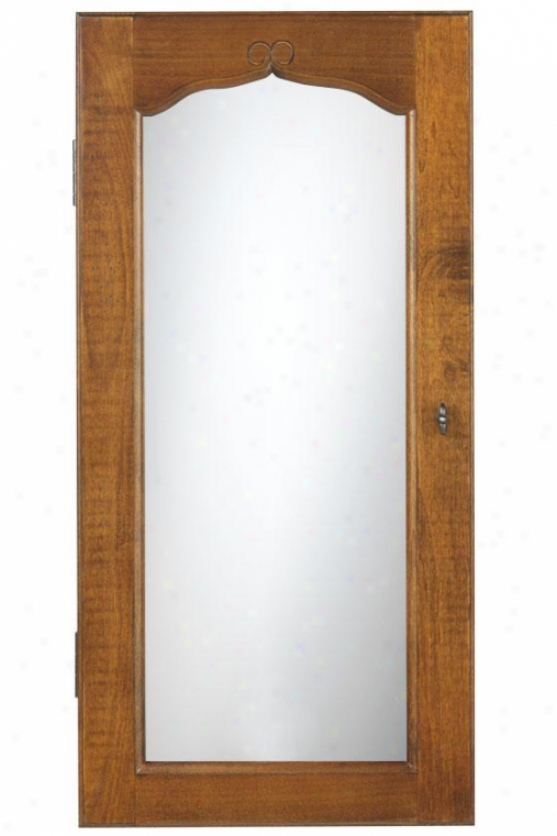 """""""provence Wall Rise Jewelry Armoire With Mirror - 30hx14.5wx4d"""""""", Brown"""""""