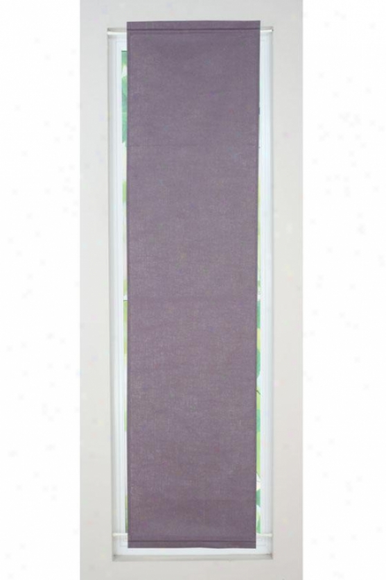"""ptoverb Collection Curtain Panels - Side Light Panel, 20x77""""x, Circa Solid Amethyst  X"""