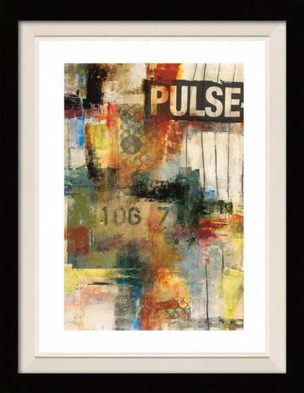 Pulse I Framed Wall Art - I, Floated Black
