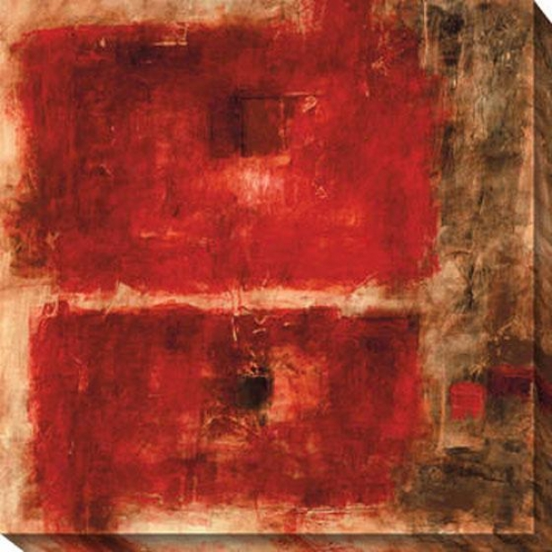 Quality Control Re Ii Canvas Wall Art - Ii, Red