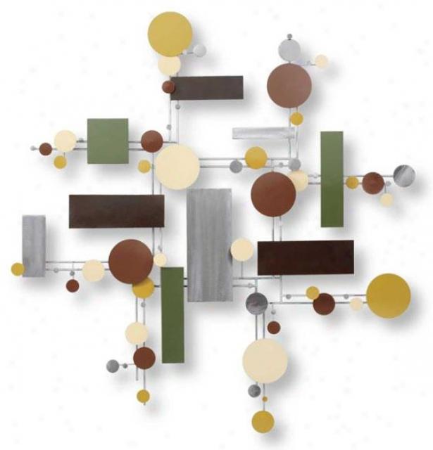 Quantum Wall Sculptuer - 37hx36wx4, Multi