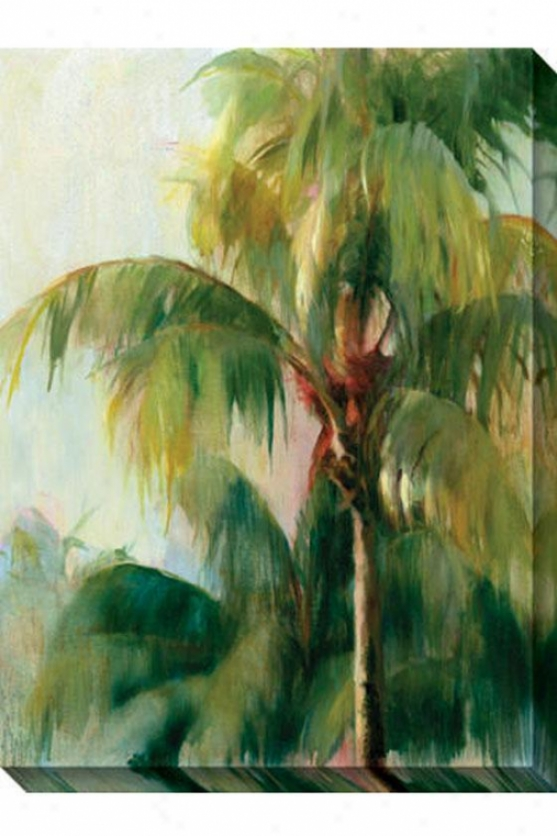 """Patience Palm Canvas Wall Art - 36""""hx48""""w, Green"""