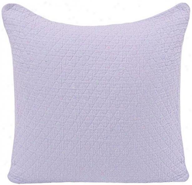 """quilted Diamond Decorative Pillow - 18"""" Square, Purple"""