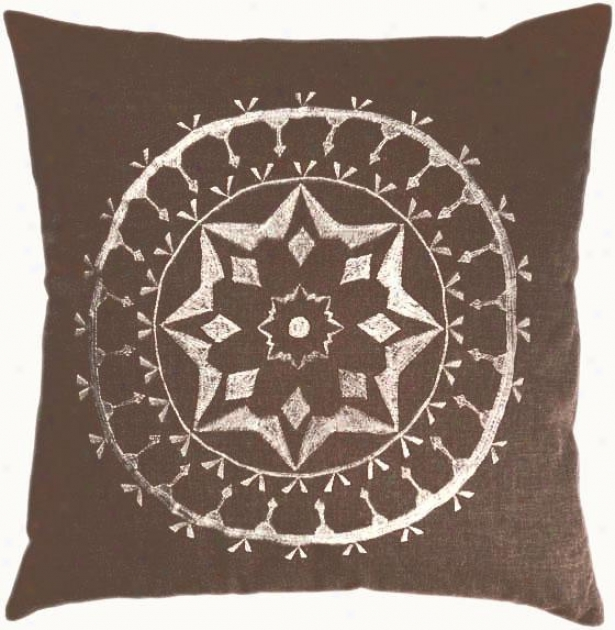 """quincy Pillow - 18""""x18"""", Brown"""