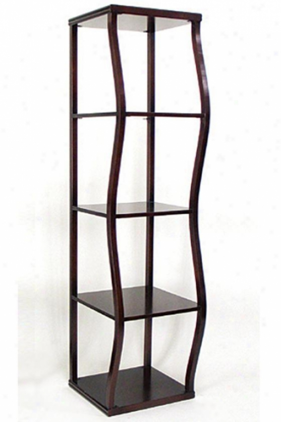 """raize Display Tower - 60""""hx16""""sq, Brown"""