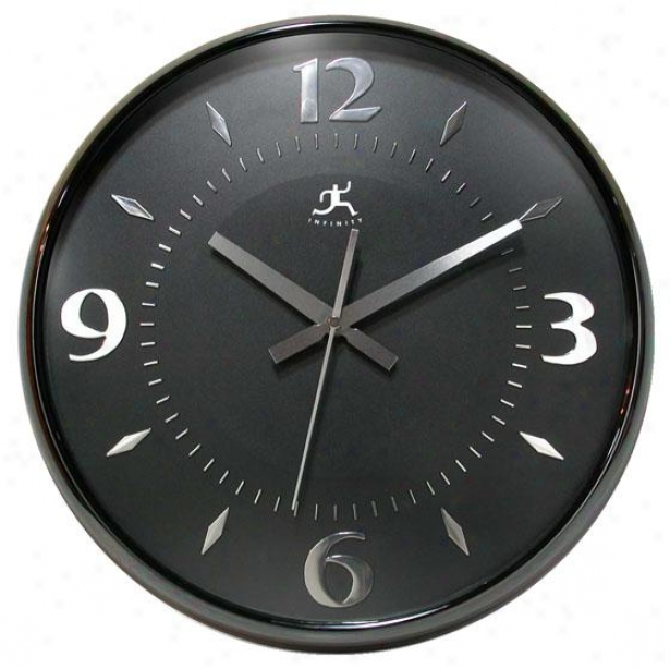 """raven Wall Clock - 15""""hx15""""w, Black Pearl"""