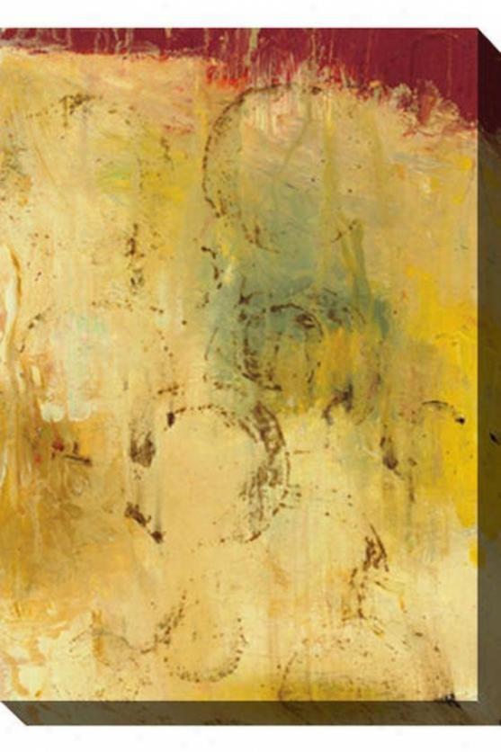 Intrinsic Meaning Ii Canvas Wall Art - Ii, Green