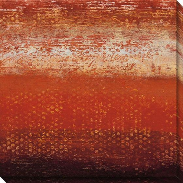 Red Strata Ii Canvas Wall Art - Ii, Red