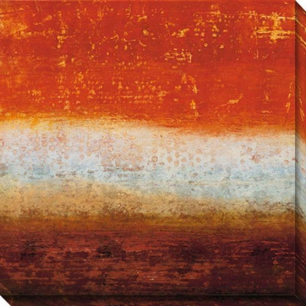 Red Strata Iv Canvas Wall Art - Iv, Red
