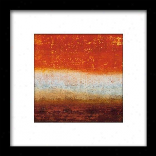 Red Layers Iv Framed Wall Art - Iv, Mattd Blk 27x27