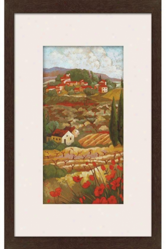 Red Tuscan I Framed Wall Art - I, Matted Black
