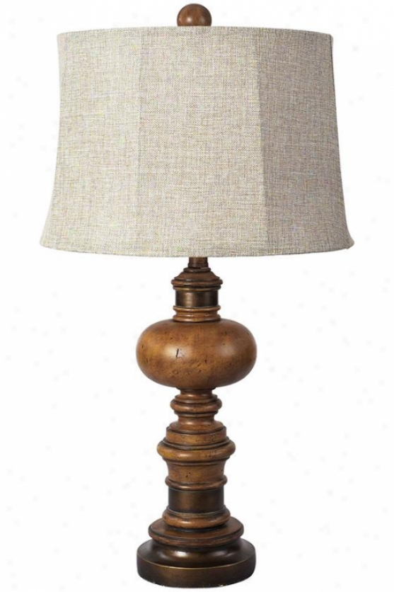 Redford Table Lamp - 30hx16w, Fruitwood Finish