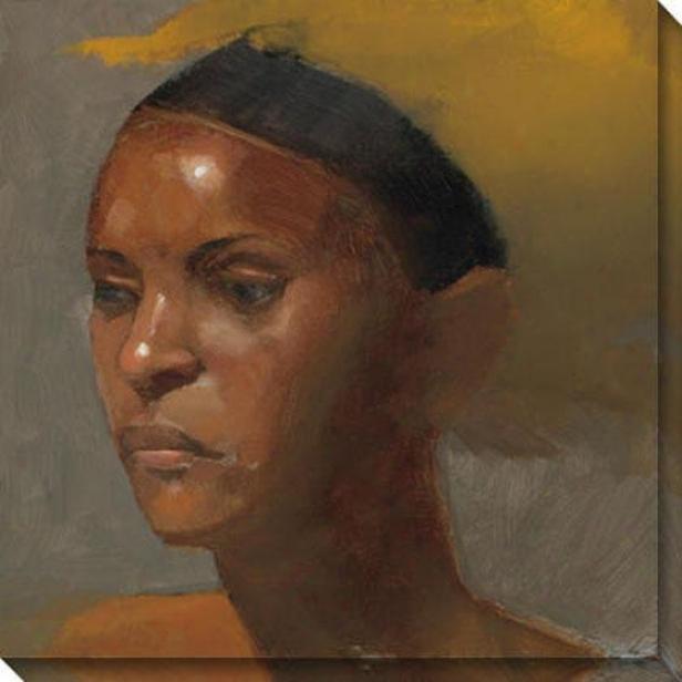 """reflection Canvas Wall Art - 40""""hx40""""w, Brown"""