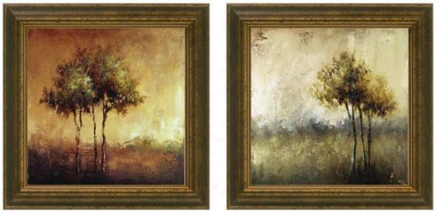 Refuge Framed Wall Art - Set Of 2 - Set Of Two, Earthtones
