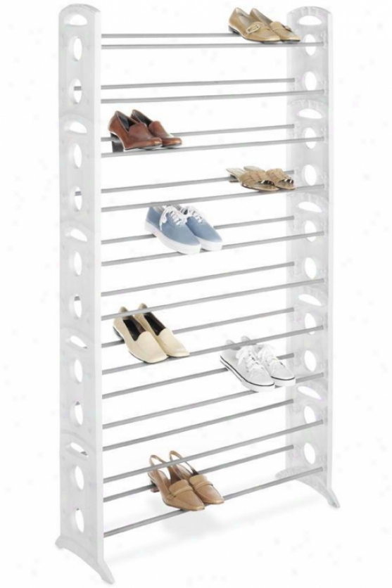 """resin Shoe Tower - 62.25""""hx35.5""""w, White"""