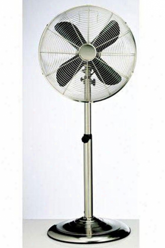 """""""retro Oscillating Fan - 48h X 18""""""""d, Stainless"""""""