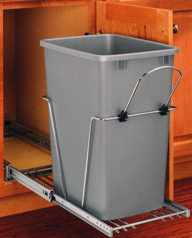 Rev-a-shelf 35-quaft Pull--out Waste Container - 19.25h X 11wx22, Silver