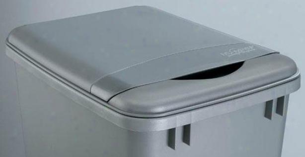 Rev-a-shelf 35-quart Waste Container Lid - 2h X 10.5w X 14, Silver