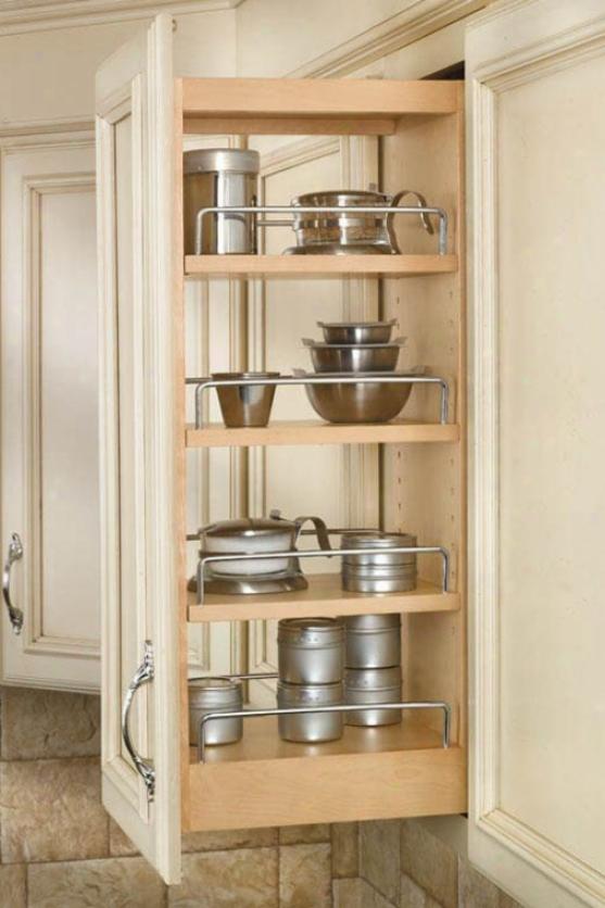 """""""rev-a-shelf Wall Cabinet Oeganizer - 26h X8w X11""""""""d, Ivory"""""""