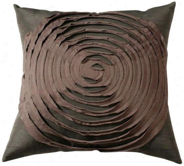 """rings Pillow - 18""""x18"""", Brown"""