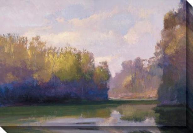 """river Incline Canvas Wall Art - 48""""hx34""""w, Green"""