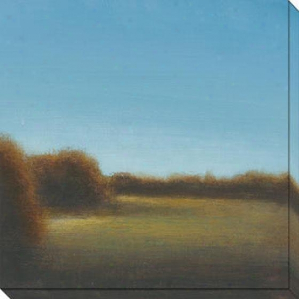 River's Travel  Ix Canvas Wall Art - Ix, Azure