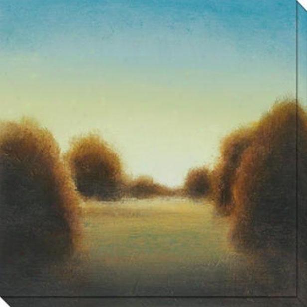 River's Journey V Canvas Wall Art - V, Blue