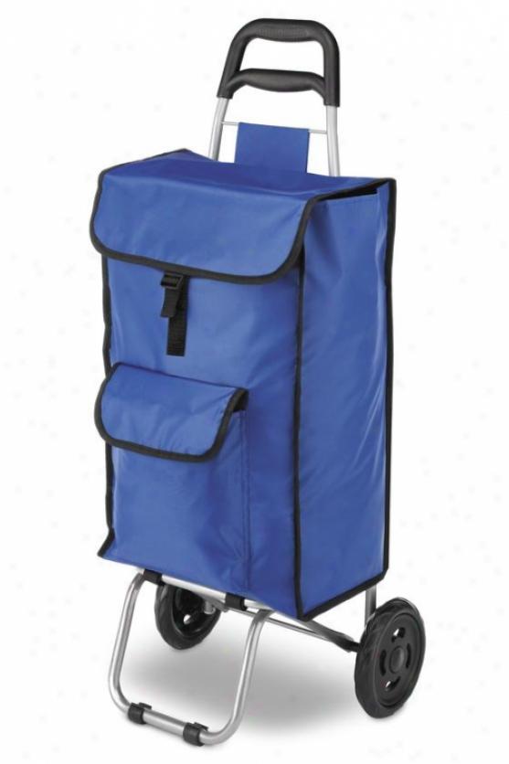"""rolling Bag Cart - 38""""hx15""""wx15""""d, Blue"""