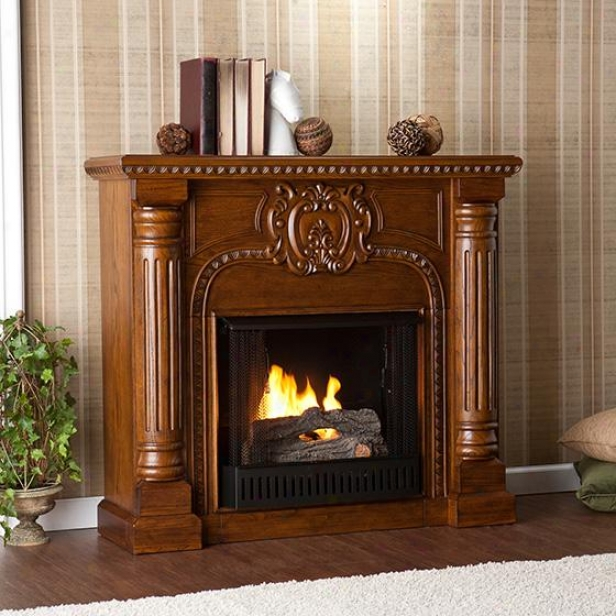 Romano Fireplace - Gel Fuel, Salem Oak