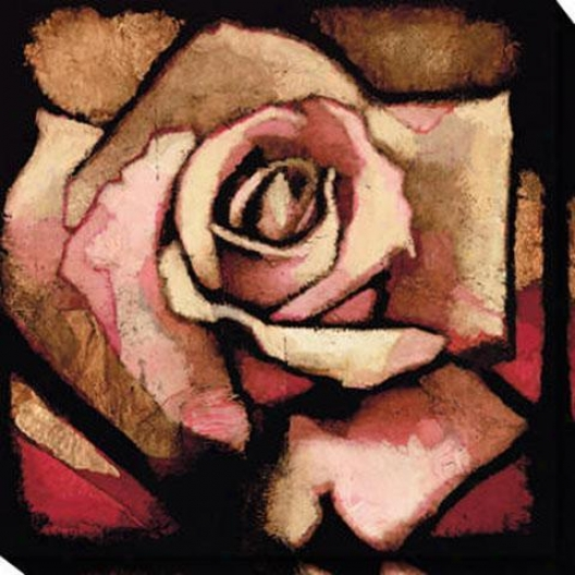 Rose Study I Canvas Wall Art - I, Red