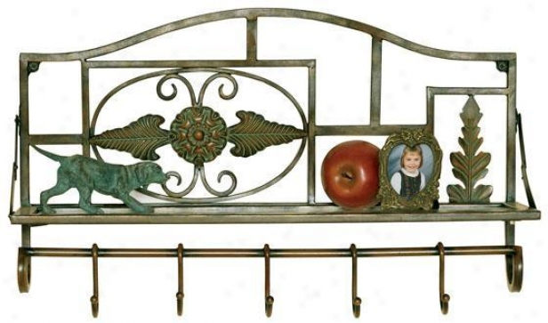 """rosedale Wall Shelf - 13.5""""hx22""""w, Brown"""