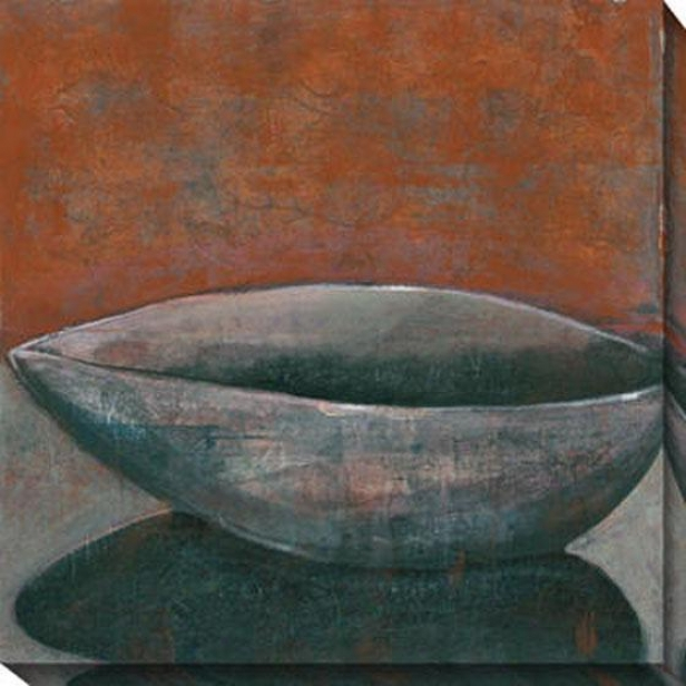 """rust Bowl Canvas Wall Art - 40""""jx40""""w, Rust/gray"""