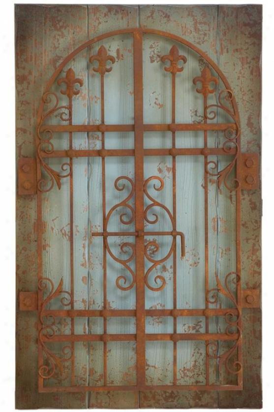 Rustic Gate Wall Decor - 36hx22w, Pumpkin