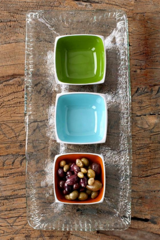 Rustic Rectngle Platter - 1hx9.25w, Clear