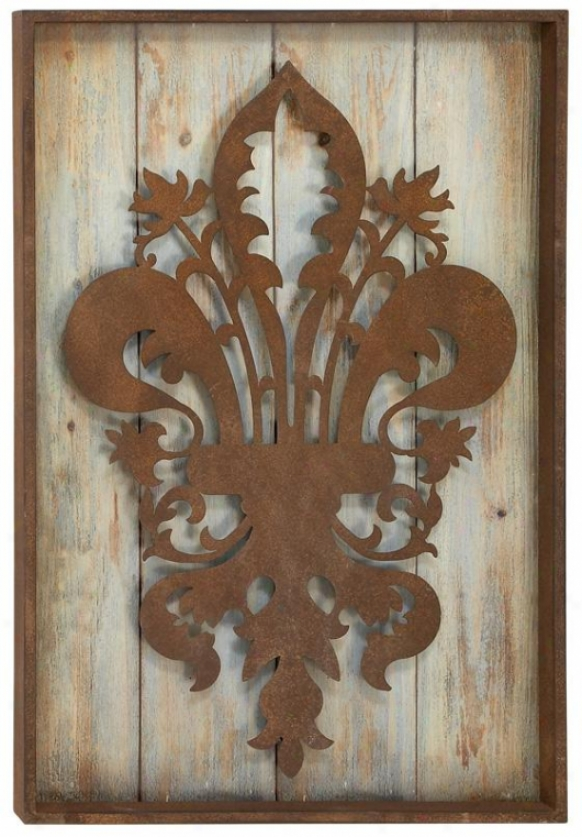 Rustic Wall Decor - 33hx22w, Pumpkin