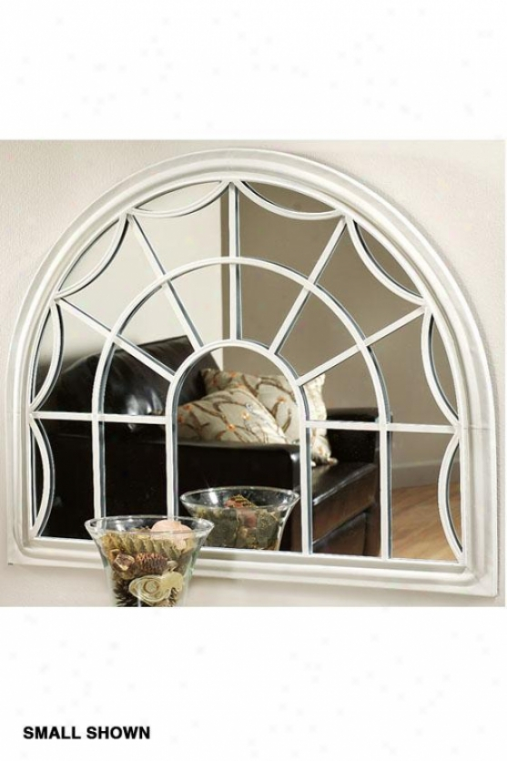Sabrina Decorative Wall Mirror - Large, Ivory