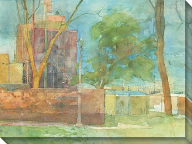 """saccharine Chemistry Park Canvas Wall Art - 48""""hx36""""w, New"""